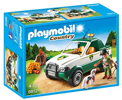Playmobil Vida en el Bosque - Country Guardabosque con Pick up Modelismo y maquetas, Color Multicolor (Playmobil 6812)