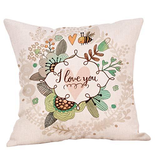 SIRIGOGO Funda de almohada decorativa de lino y algodón para el hogar, 30 x 50 cm, diseño de flores de cachemira, color melocotón, regalo de amor para novia, decoración para el sofá del hogar
