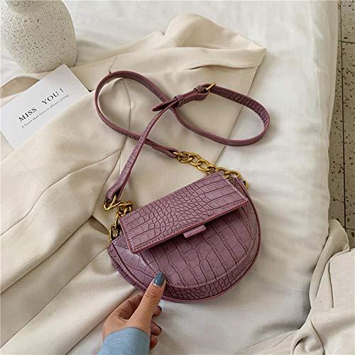 LOH Pierre Motif Sacs Bandoulière Sacs Femmes D'été Épaule Sacs À Main Femelle Voyage Cross Body Bag, Violet, 22 cm x 15 cm x 7 cm