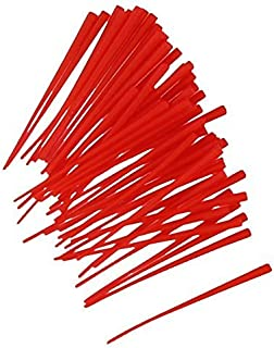 Top Brass Bead Peg-It, 100 Piece Bulk Pack, Red Color