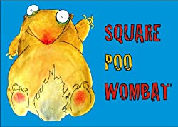 Square poo Wombat - book for children - to go with wombat crafts