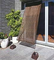 ワタナベ工業 オーニング 4段階スリットシェード [2枚セット / ブラウン / 選べる4サイズ] (2×2.4m)