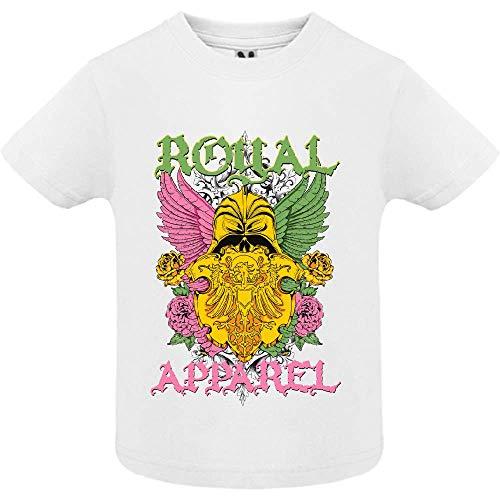 LookMyKase T-Shirt - Royal Apparel - Bébé Garçon - Blanc - 12mois