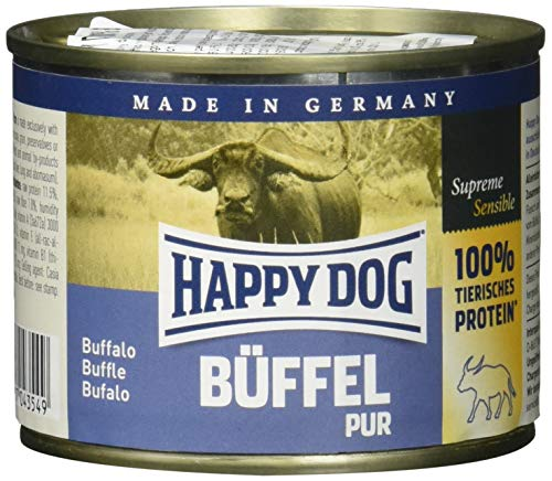 mächtig der welt Happy Dog Buffalo Pure, 200 g