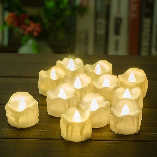 Timer Candles 12pcs PChero Battery Operated LED Decorative Flameless Flickering Tea Light 6