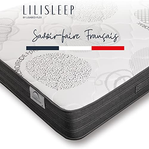 Lilisleep - Materasso 150 x 190 - 2 cuscini inclusi - viscoelastico ad alta densità nucleo HR - Reversibile estate inverno - 2 cuscini inclusi - Tutte le misure - Altezza 26 cm (+/-2 cm)
