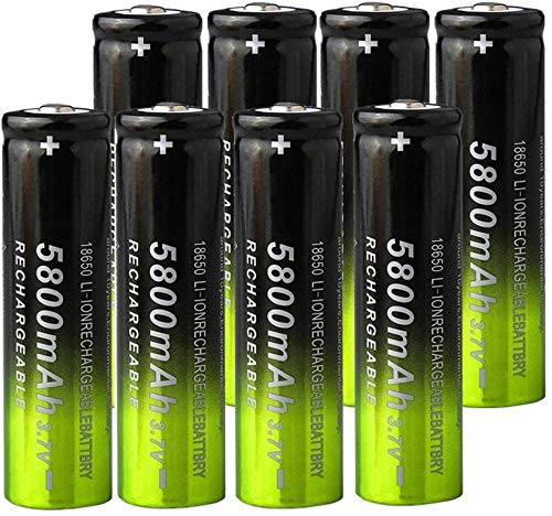 Ion de Litio Recargable de la batería de Litio de 3.7v 5800mah para la Linterna 4pcs-8 Piezas