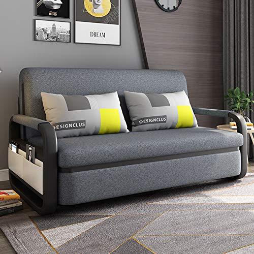 FYHpet Sofá Cama 2 en 1 Individual Plegable futón sofá Cama para Invitados con Ruedas de Almohada para el hogar Dormitorio Sala de Estar Doble Multifuncional Simple apartamento pequeño
