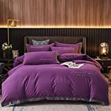 DWGYQ Moderno y Simple Conjuntos de Ropa de Cama 60 algodón Lujo Ligero Anchos Juego de Cama edredón Cómodo y Suave Adecuado para tu Dormitorio,M7,1.8m (6 Feet) Bed
