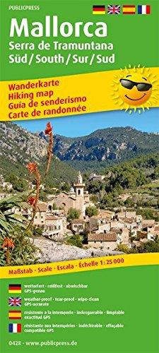 Mallorca - Serra de Tramuntana Sur/Süd /South/Sud: Wanderkarte /Hiking Map mit Mountainbike-Touren, wetterfest, reissfest, abwischbar, GPS-genau. 1:25000 (Wanderkarte: WK)