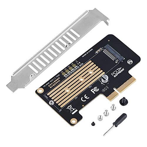 Tarjeta Vertical PCI-E, fácil instalación PCB Chapado en Oro Duradero NGFF SSD a PCI-E X4 Accesorio de computadora Compatible con Ranuras X8 / X16 de Alta Velocidad