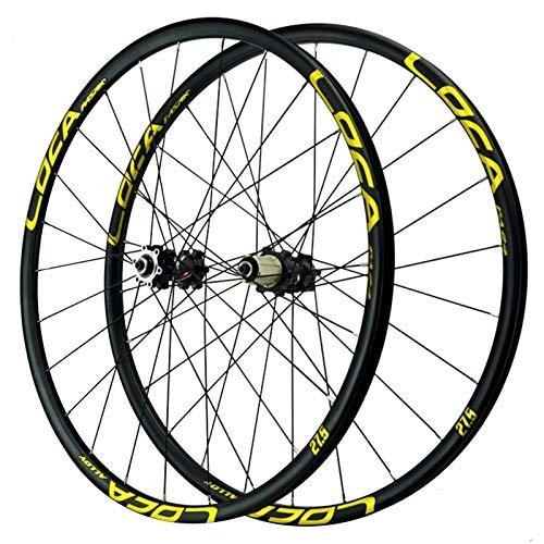 ZNND Ciclismo Wheels 26 Pulgadas,Llanta Ultraligera De Aleación De Aluminio Bicicleta De Montaña Centro De Ciclismo Rueda De Liberación Rápida Rueda para Bicicletas (Color : Yellow, Size : 26in)
