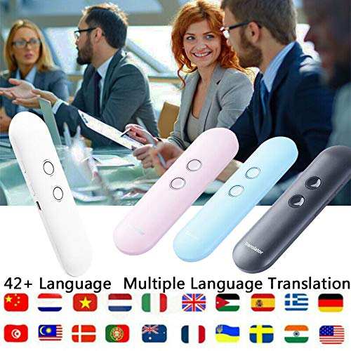 Handheld Portable T4 Multi-Language Intelligent Translator Support 42 Languages Translation Voice Photo Text Recording Translation Device Compatible with Android & iOS