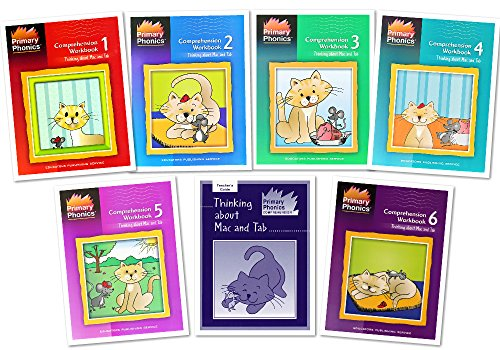 Primary Phonics Comprehension Complete 7 Workbooks Set -- Thinking About Mac and Tab Book 1-6 and Teacher's Guide