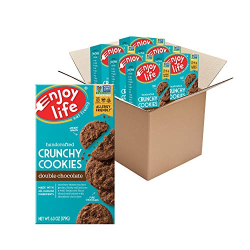Enjoy Life Crunchy Cookies, Nut Free Cookies, Soy Free, Dairy Free, Gluten Free, Non GMO, Vegan Double Chocolate Cookies, 6 Boxes