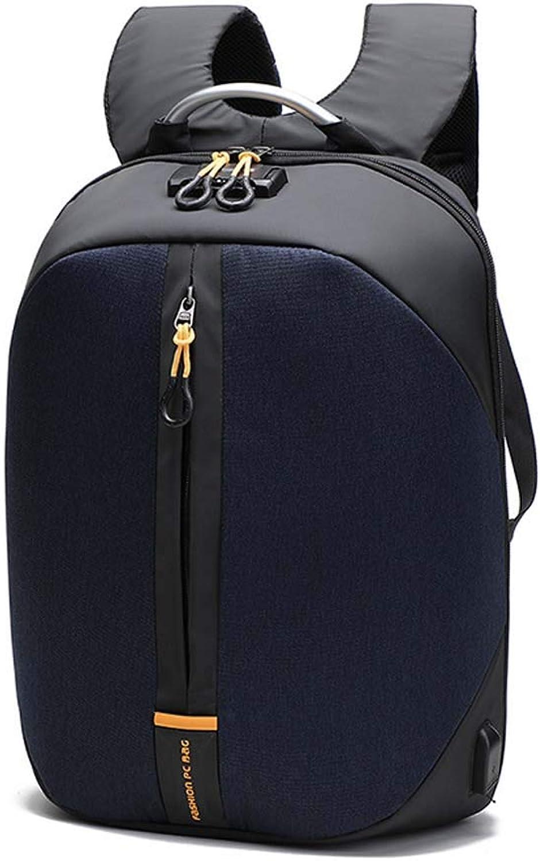 Men's Business Travel Laptop Backpack USB AntiTheft Backpack Student Bag