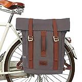 TOURBON Impermeable Lona Bicicleta Bicicleta Laptop Alforja Mochila Mochila de viaje Mochila escolar para viajes al aire libre