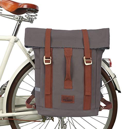 Tourbon Wasserdichte Laptop-Tasche aus Segeltuch für Fahrrad und Kuriertasche