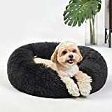 Washable Dog Round Bed Small, Donut Dog Bed Small Dog, Comfy Dog Calming Cuddler Bed