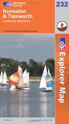 OS Explorer map 232 : Nuneaton & Tamworth