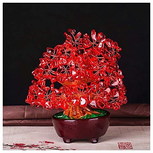 NL Decoración Creativa Fengshui Árbol De Cristal, Cristal Amarillo del Árbol del Dinero Árbol Decoración del Hogar De La Resina De Las Flores De Color Rosa Decoración De Mesa (Color : G)