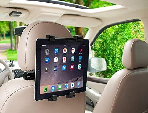 MMOBIEL Autokopfstützenhalterung Drehbare Halterung Rücksitz Dock Stand Kompatibel mit Allen 7-11 Zoll Bildschirmen, iPad, Galaxy Tabs, Feuertabletten, MatrixPad - Schwarz