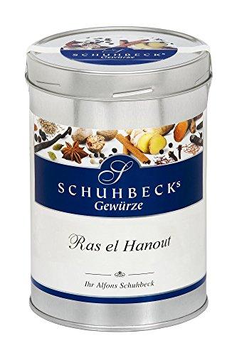 Schuhbecks Gewürze Ras el Hanout arabische Gewürzmischung, für Fisch, Fleisch, Geflügel, Gemüse & Reisgerichte, Gewürz ohne Salz, Menge: 1 x 425 g