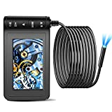 Industrial Endoscope Camera with 4.3 inch LCD Color Screen 8mm Snake Inspection Camera HD 1080P Waterproof Borescope Cameras with 6 Adjustable LED Lights (5m/16.4ft)