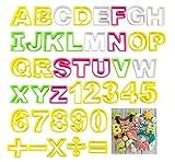 ilauke Fondant Buchstaben Ausstecher groß Ausstechform Modellierwerkzeug farbig Alphabet Zahlen