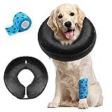 AILITRADE Collares de perro básicos inflables para perros grandes, cómodo collar para mascotas para recuperación
