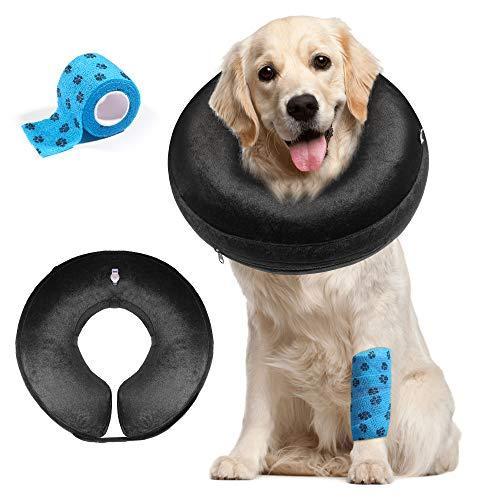 AILITRADE - Collare gonfiabile per animali domestici, per cani di taglia grande, comodo collare protettivo per facilitare la guarigione