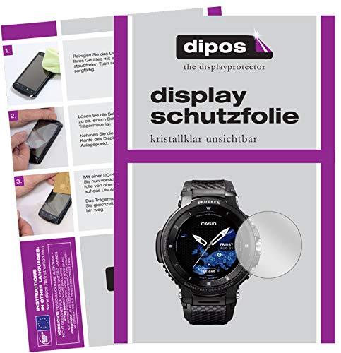 Preisvergleich Produktbild dipos I Schutzfolie klar kompatibel mit Casio Pro Trek smart WSD-F30 Folie Displayschutzfolie