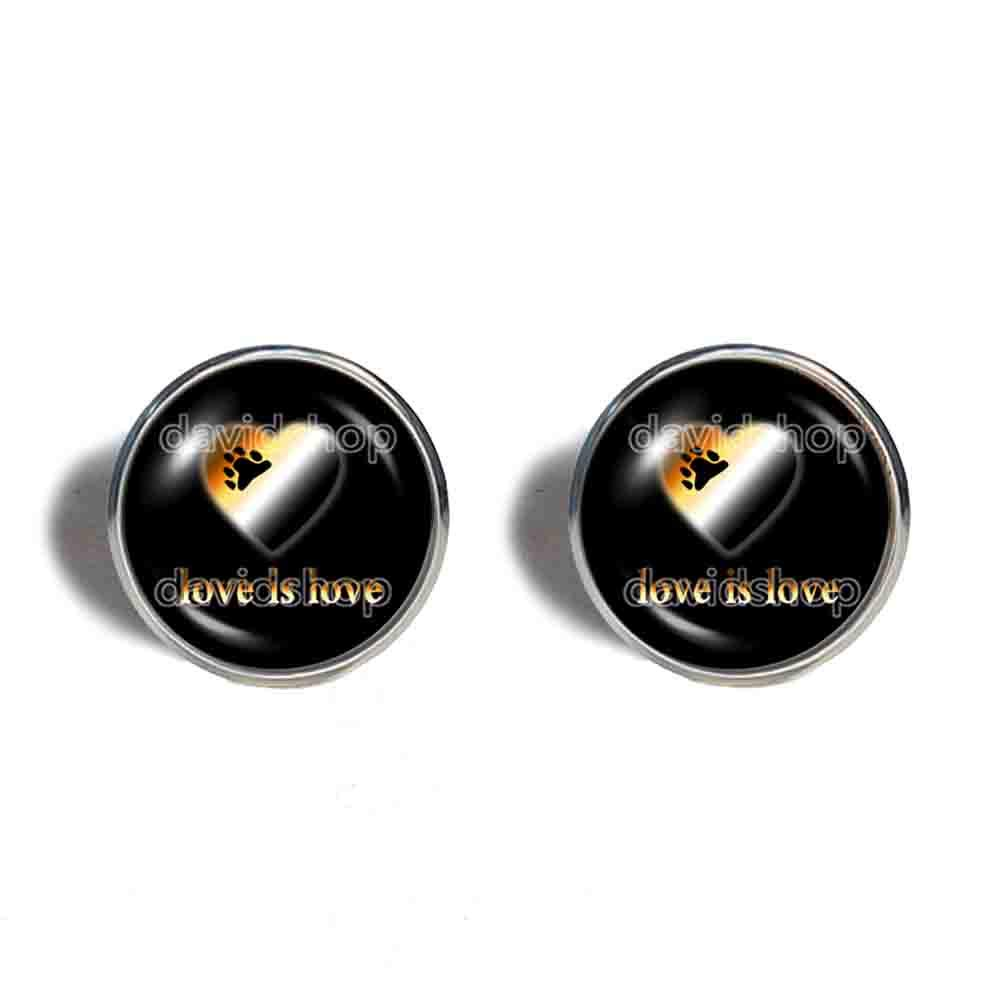 Love Is Gay Bear Pride Earrings He SEAL limited product Jewelry Cuff Year-end gift Fashion Ear