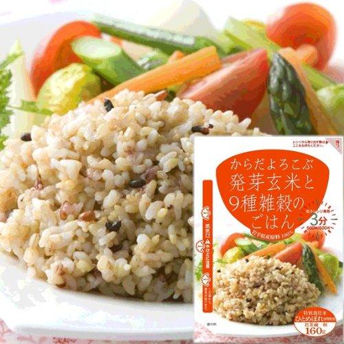 ユアーハイマート 発芽玄米と9種雑穀のごはん 160g×6袋セット ・9種雑穀×3袋・黒米×3袋