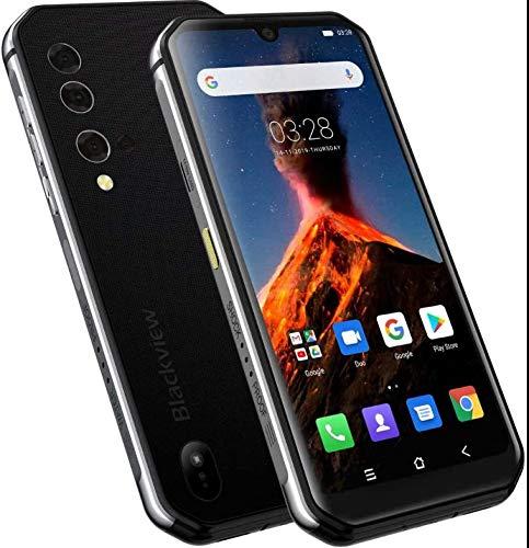 Wärmebildkamera Outdoor Smartphone (2020) Blackview BV9900 PRO, Helio P90 8GB + 128GB, 48MP AI-Kamera, IP68 Robustes Handy ohne Vertrag, 5,84 Zoll FHD + Gorilla-Glas 5, Drahtlose Ladung NFC Silber