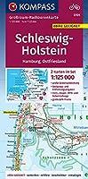 Schleswig-Holstein, Hamburg, Ostfriesland 1:125 000: Grossraum-Radtourenkarte 1:125000, GPX-Daten zum Download