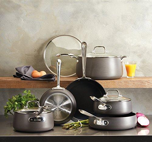 All-Clad E785SB64 HA1 Hard Anodized Nonstick Cookware Set, Pots and Pans Set, 13 Piece, Black