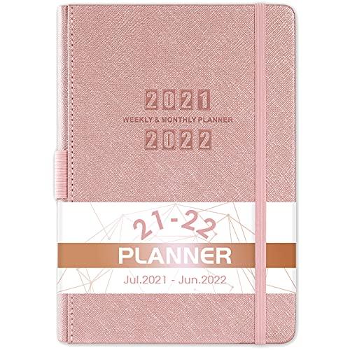 Agenda 2021 2022, agenda 2021 2022, agenda tascabile da luglio 2021 a giugno 2022, con copertina in pelle e carta spessa, tasca interna e 88 pagine per appunti