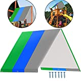 Alpurple Swing Set Replacement Tarp-52'X89' Kids Playground Roof Canopy,Replacement Sunshade Waterproof Trap Cover for Children Outdoor Sunproof (Green Blue Gray)