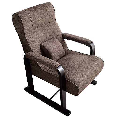 FUFU Sillas de salón plegables para el patio, para el almuerzo, para otoño e invierno, sofá pequeño, silla de alimentación ajustable con cojín extraíble duradero (tamaño: sin reposapiés)