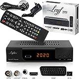 Leyf 2111C Récepteur de Câble Combo - TNT HD pour TV - Adaptateur TNT HD -Décodeur DVB-T/T2 et DVB-C/C2 Decodeur Boitier TNT - Tuner TNT - WiFi en Option + Câble HDMI