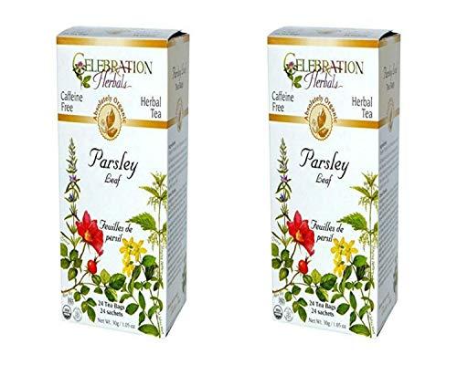 Celebration Herbals Organic Parsley Leaf Tea Caffeine Free, 48 Herbal Bags (2 packs of 24)