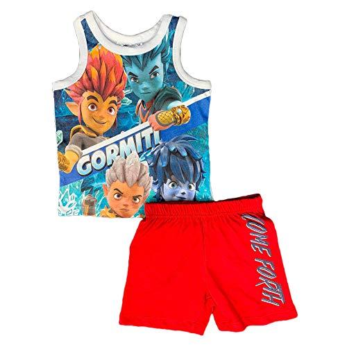 Suncity - Pijama para niño Gormiti, camiseta y pantalón de