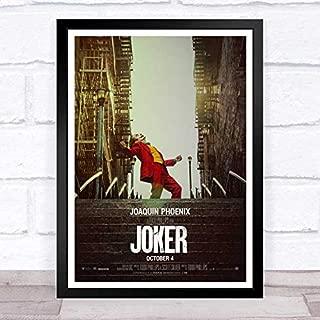 ぶら下げ絵画-映画 ジョーカー(2019)_2joker (2019)_2テーマポスター - サイズ:33x43cm(額縁を送る)- 素晴らしいクリスマス新年の贈り物