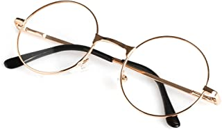 bd1daa9eaf3d Wivily Unisex Retro Round Presbyopic Reading Glasses 1.00 1.50 2.00 2.50  3.00 3.50 4.00 - Gold