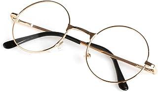 110a4c28163 Wivily Unisex Retro Round Presbyopic Reading Glasses 1.00 1.50 2.00 2.50  3.00 3.50 4.00 - Gold
