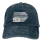 gymini Gorra de béisbol con bandera americana de Freightliner de algodón ajustable, ajustable, unisex, sombrero de camionero