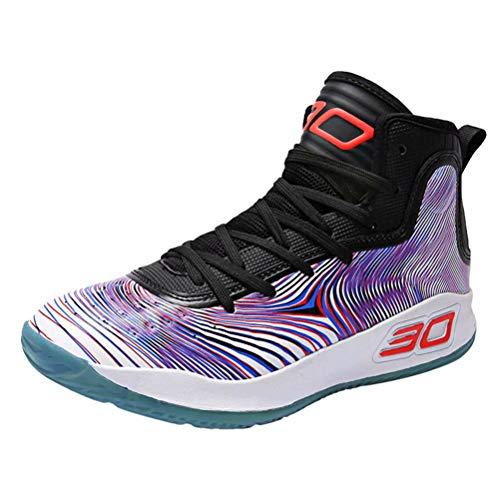Scarpe da Basket Uomo Donna Anti Scivolo Outdoor Traspirante Sneakers Casual Scarpe da Ginnastica Multicolore 36