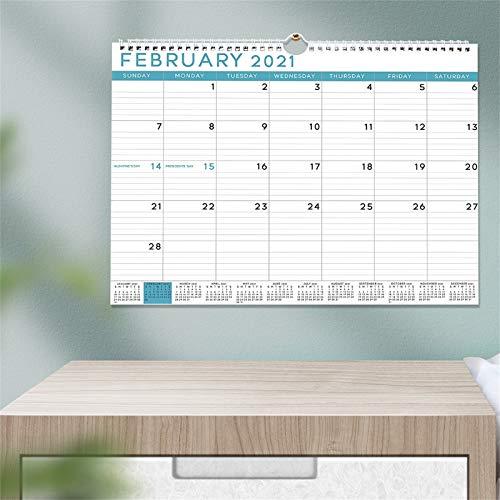 Gpure Agenda Anual 2021 Mes por Pagina Calendarios de Pared de Papel 14.75x11.5 Inch Grandes Organizadores Personalizados Póster Pegatinas Planificadores para Mesa Puerta Ventana