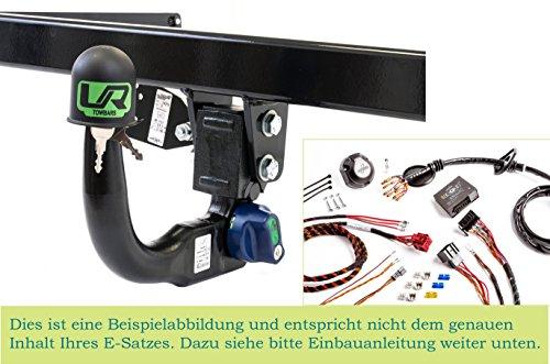 UmbraRimorchi Vertikal Abnehmbare Anhängerkupplung mit 13p Spezifischer E-Satz Kompatibel mit Opel MERIVA-B MPV 2010+ UT280COR60ZVMM/WS21500567DE1
